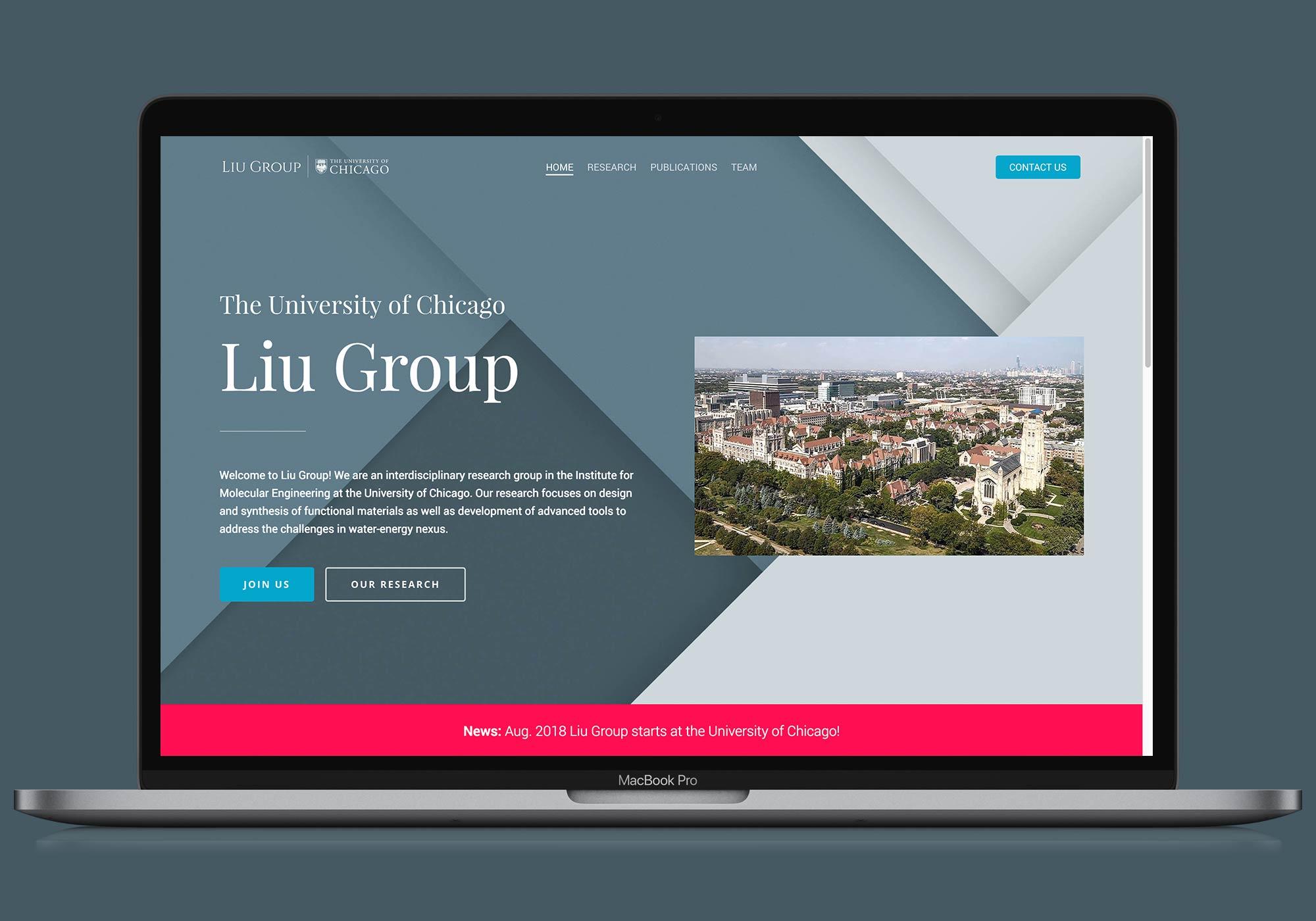 Liu Group – The University of Chicago 官方網站