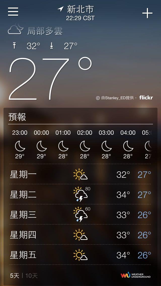 Yahoo! 氣象 App